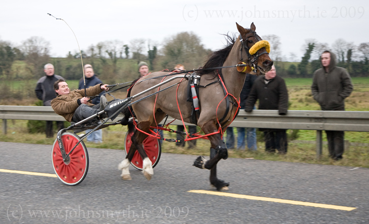 Horse & Sulky races outside Carrick-on-Shannon