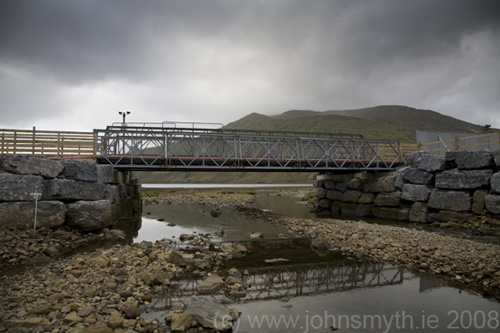 Temporary bridge in Leenane, Co. Galway